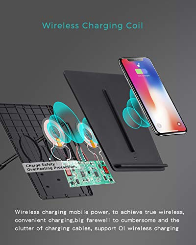 TAPTES Tesla Model 3 Wireless Charger Dual Wireless Smartphone Charging Pad M3 Car Interior Center Console Accessories for Any Enable Phone, Compatible with Tesla Model 3 - No Software Issue