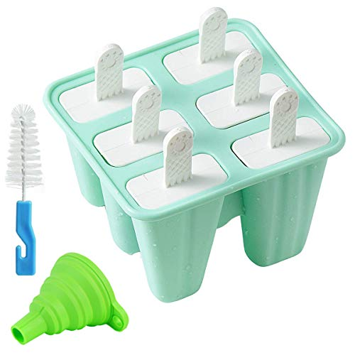 6 Pieces Silicone Ice Pop Molds