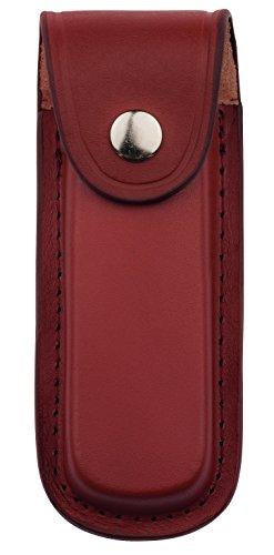 Herbertz Messer Etui - braunes Leder - eingeschnittene Gürtelschlaufe - für Messer mit 13 cm Heftlänge