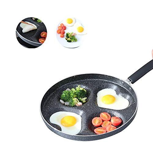 Induction Crepe Pans, Nonstick Stone Frying Pan Best Omelette Skillet with Soft Touch Handle Induction Compatiblefour Shapes Kitchen Cooking Family Daily