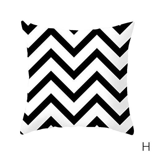 tangyuandain 1 funda de cojín cuadrada con patrón geométrico para decoración de sofá, 45 x 45 cm