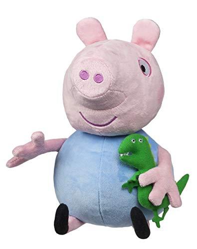 Jazwares 92704 - Peluche de Peppa Pig con Sonido Hug N' Oink, Aprox. 30 cm, Peluche para Dormir, Peluche para Jugar, Original de Peppa Pig para niños a Partir de 3 años