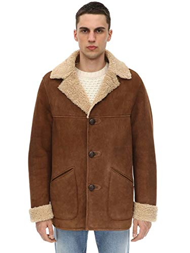 Belstaff Merino Shearling Car Coat Chestnut -48