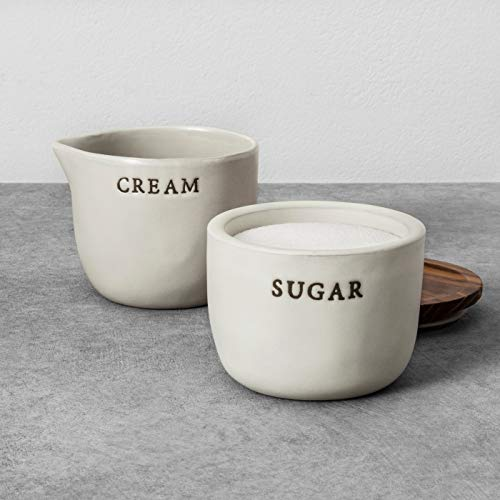 Hearth and Hand with Magnolia Stoneware Cream Cellar And Sugar Bowl Joanna Gaines Limited Edition