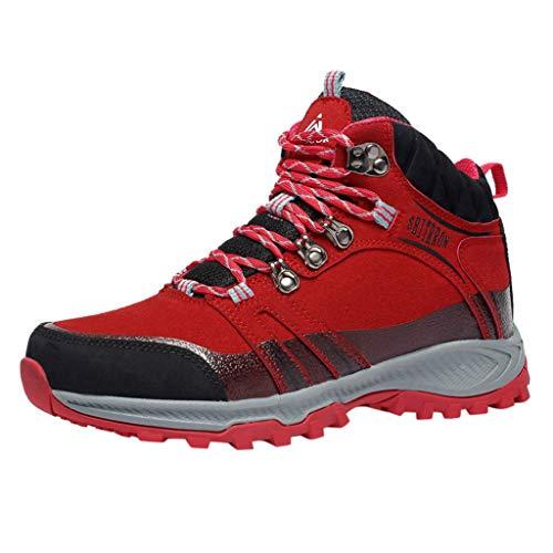 BoyYang Herren Wanderschuhe Outdoor Leichtes Slip On Sneaker Unisex Sportschuhe Trekking Wanderhalbschuhe Dämpfung Wanderstiefel Laufschuhe, Warm halten Verwenden Sie Samtiger Baumwolle Herstellung