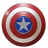 ABDOMINAL WHEEL Escudo del Capitán América 1:1Versión de la Película Avengers Escudo Metal,28Cm Niño Cosplay Super Heroe Réplica de Marvel Ropa Prop,Decoración Creativa de la Pared de la Barra