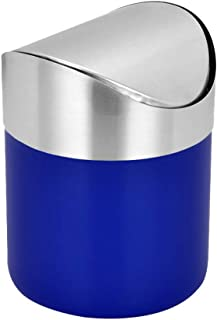 Mini Trash Can for Desk with Lid Desktop Trash Can Small Tiny Countertop Trash Bin Can for Office Bathroom Kitchen Waste B...