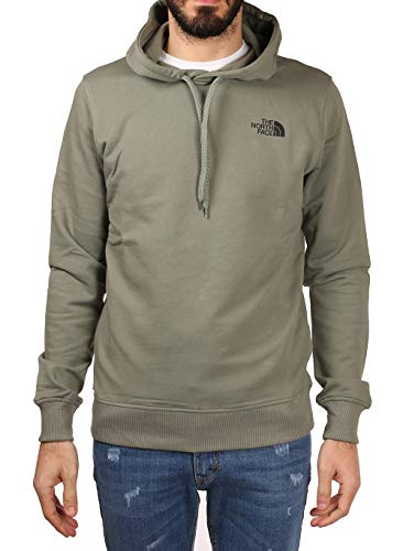 The North Face Men's Seasonal Drew Peak Pullover Light Felpa con Cappuccio, AG. Green, M Uomo