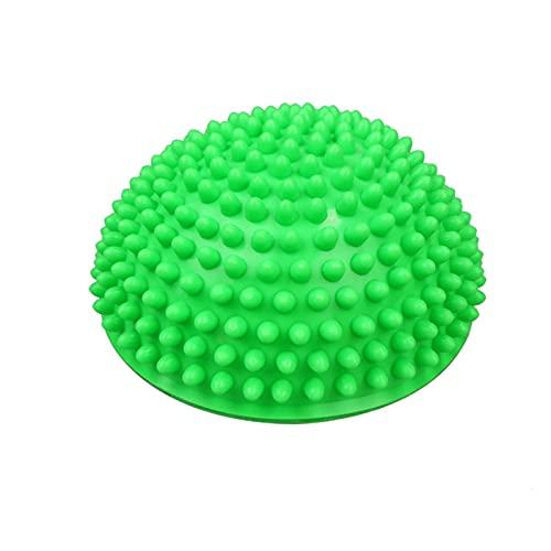 Hemisferio inflable Pelota de yoga PVC Masaje Deportivo Entrenador Fitness Ball Fitness Ball (Color : Green)