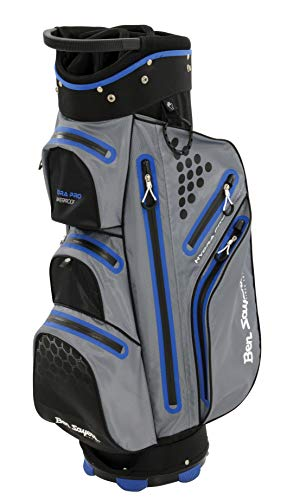 Ben Sayers Unisex Hydra PRO Impermeabile Sacca da Golf, Grigio/Blu, 21,6cm