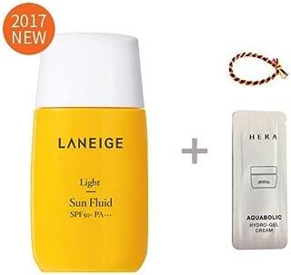 Laneige Light Sun Fluid SPF50+ PA+++ 1.69oz(50ml) + Gel Cream 1ml