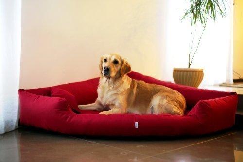 tierlando® Orthopädisches Hundebett Trivia Visco Eckbett Eckhundebett Festes Polyester....