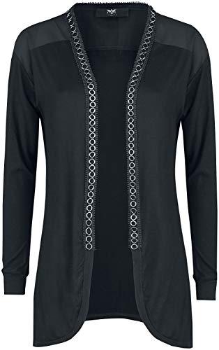 Black Premium by EMP Schwarzer Cardigan mit Ösen Frauen Cardigan schwarz S