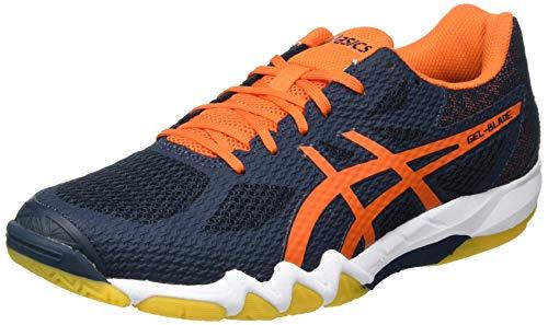 ASICS Herren Gel-Blade 7 Indoor Court Shoe, French Blue/Marigold Orange, 44 EU