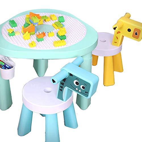 Baustein Tisch Gebäude Tabelle Granulat Spieltisch Kinder Montage Sand Billardtisch Baby-Early Education Tabelle Blocks Spiel Toy Tisch Kleinkind-Spielen und Lernen für Ausflüge