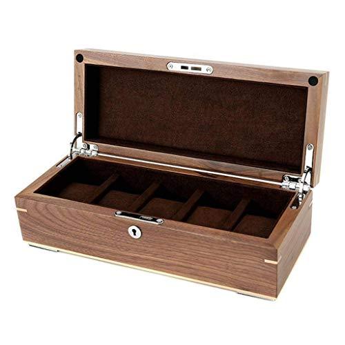 GUOOK Caja de reloj para mujer de madera personalizada caja de reloj grande (color: B)