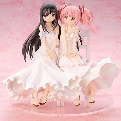 BHNACM Puella Magi Madoka Magica-Blumen-Hochzeit Akemi Homura Und Kaname Madoka Beautiful Girl Action-Figur Zeichentrickfigur Modell-Dekoration Statue Marry
