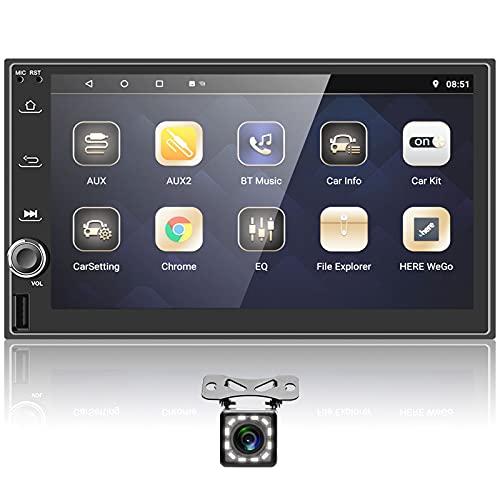 Podofo Autoradio Bluetooth 2 Din Con Schermo 7 Pollici 1080P Android Stereo...