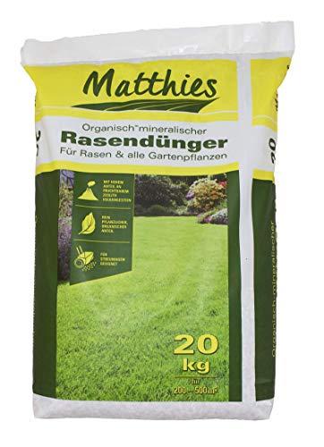 Matthies Rasendünger 20 kg für 200-500 m², organisch mineralisch, Langzeitwirkung