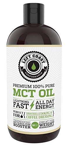 MCT Oil Keto derived only from Sustainable Coconuts (32oz). C8 and C10. Keto Diet | Paleo Friendly. Triple Filtered. Each Batch is Independently Tested (32oz)