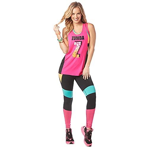 Zumba Activewear Backless Top Deportivo Dance Fitness Camisetas de Entrenamiento, Pink Berry, X-Small