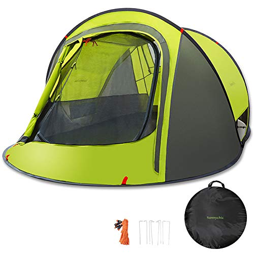 Sunnychic Pop Up Tent Camping Tent, Automatic Instant Pop Up Setup Tent with Sun Shelter UV Protection, Portable 2-3 Person Family Camping Instant...