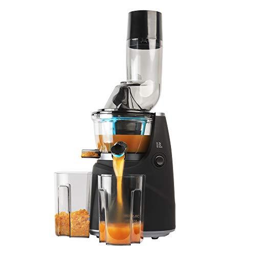 Cecotec Licuadora de Prensa fría Juice&Live 1500 Pro. Potencia 250 W, Canal XL, Velocidad Lenta de 45 RPM, BPA-Free