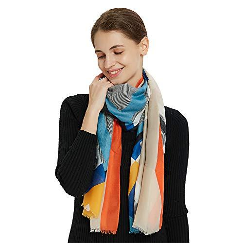 Women Cotton Scarves Lady's Long Viscose Shawls Soft Head Scarves Polyester Woman Wraps Spring Shawls Hijabs (Light Khaki)