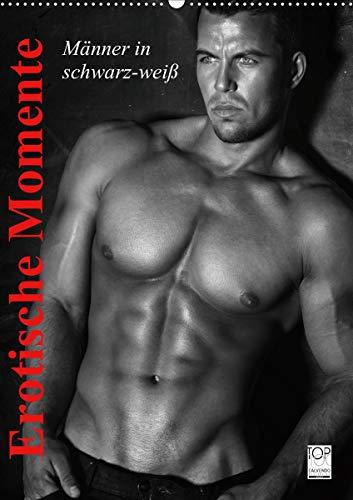 Erotische Momente. Männer in schwarz-weiß (Wandkalender 2021 DIN A2 hoch)