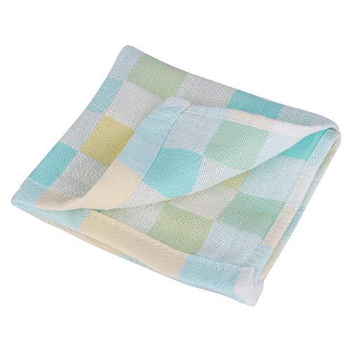 Babywashandjes en handdoek 9,4 x 9,84 inch absorberende handdoek speekseldoek voedingswashanddoek zakdoek voor pasgeborenen groen