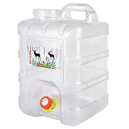 soloplay Bidón de agua portátil de 10 L/15 litros, depósito de agua para coche, con grifo, plástico sin BPA, grueso, para camping, picnic, casa, cubo de almacenamiento bebedero (10 L)