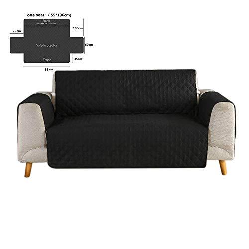NAttnJf Moderne Einzel- / Doppel- / Dreisitzer-Schonbezug-Sofa-Möbel-Couch-Abdeckungs-Auflage Schwarz 1