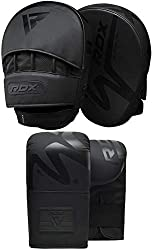 RDX focus pads are manufactured with ConvEX skin combat leather making it comfortable and versatile for an MMA fighter whose training knows no bounds. The combat leather skin is tough and lasts a long time. Infused EVA-LUTION foam padding absorb impa...