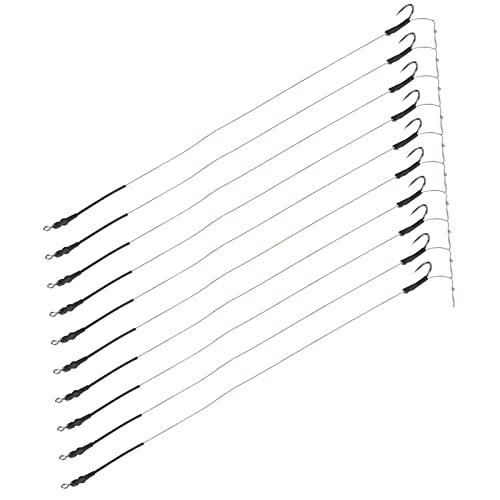 Hozee Plates-Formes de pêche pour Cheveux, Plates-Formes de Crochet de pêche durables avec Un matériau métallique pour la pêche(12#)