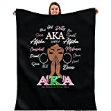 AKA Blanket 60x50in Flannel Throws Blankets for Couch Sofa All Season Super Cozy Plush Blanket for Women
