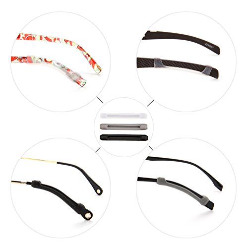 YR Soft Silicone Eyeglasses Temple Tips Sleeve Retainer, Anti-Slip Elastic Comfort Glasses Retainers for Spectacle Sunglasses Eyewear,6 Pairs, Clear