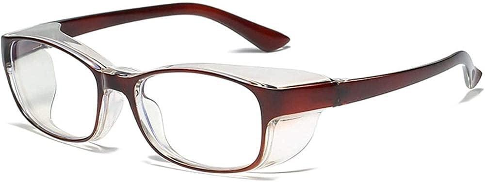 Gafas de seguridad para mujeres y hombres Vidrios de polen Gafas Gafas de heno Fiebre Gafas Lente transparente con polen anti-azul Protección de ojos Luz Tarifa a prueba de viento Escudos de prot