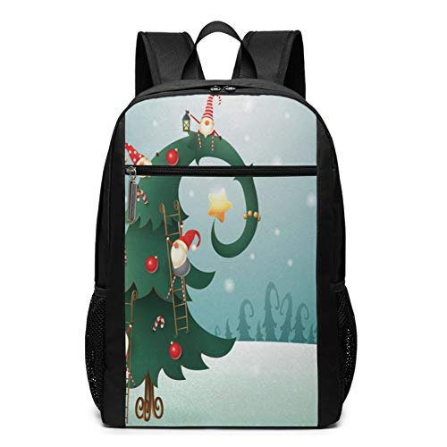 OMNVEQ Mochila Escolares Polo Norte 745, Mochila Tipo Casual para Niñas Niños Hombre Mujer Mochila para Ordenador Portátil Viaje