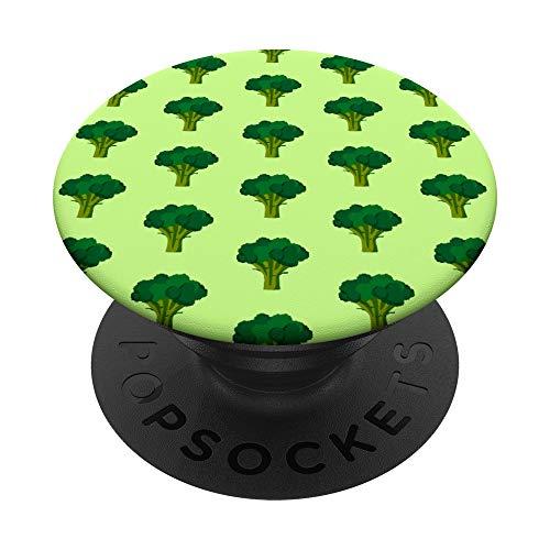 Brócoli verde Amante de las verduras Alimentación sana PopSockets PopGrip: Agarre intercambiable para Teléfonos y Tabletas