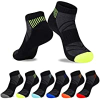 6-Pack The Flyrun Athletic Cushion Breathable Low Cut Ankle Socks for Men