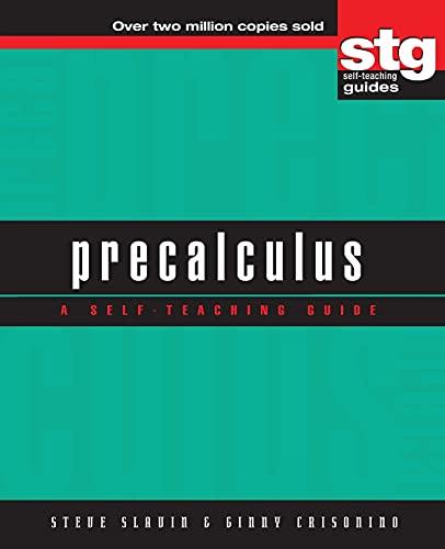 Best precalculus book for self study