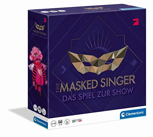 Clementoni 59203 The Masked Singer, das Spiel zur Pro7-Show, Familienspiel für 3 - 10 Spieler, unterhaltsames Partyspiel, Kartenspiel zur TV-Sendung, ab 12 Jahren, als Ostergeschenk