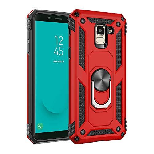 BestST Funda Samsung Galaxy J5 2017/J530 con Anillo Soporte,+ HD Protectores de Pantalla,2in1 Dura PC + Suave TPU Silicona Carcasa Híbrido Armadura Bumper Case Cover para Samsung Galaxy J5 2017/J530