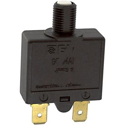 E-T-A Circuit Protection and Control 1658-G21-01-P10-30A, Circuit Breaker; Therm; Push; Cur-Rtg 30A; Flange; 1 Pole; Vol-Rtg 240/28VAC/VDC