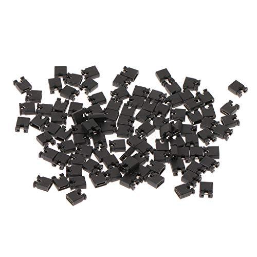 JOYKK 100 Stück 2,54 mm Standard Jumper Blocks Kappen für Festplattenlaufwerke DVD Motherboards - Schwarz