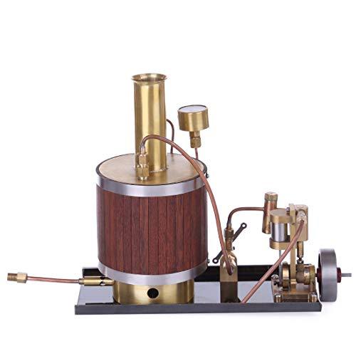 deguojilvxingshe Mini-Dampfmaschinenmodell mit Kessel und Basissatz, Retro-Metalldampfmaschinenmodell, Kupferdampfmaschinenspielzeug
