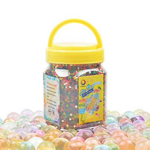 Water Gel Beads(Almost 40,000pcs) Water Jelly Pearls Rainbow Mix for Kids Sensory Playing, Wedding Home Decoration,Plants Vase Filler Sold by Jangostor