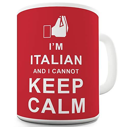 Twisted ENVY I'm Italian I Cannot Keep Calm Tazza in ceramica, Ceramica, Rosso, 11 OZ