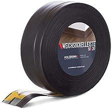 HOLZBRINK zelfklevende zachte plint, zwart PVC lamel, 50x20mm, 20 m