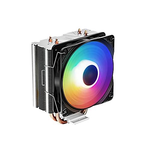 Centilador Cpu CPU Cooler 120 mm Ventilador de silencio 4 Contacto directo CPU Tubos de disipador de calor LED Ventilador de CPU con rodamientos hidroeléctricos y almohadillas anti-vibraciones Sistema